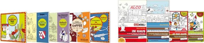 Individuelle Malbücher und Ausmalposter
